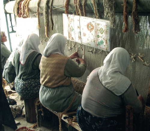 Women Weaving